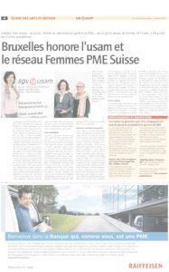 thumbnail of 201311-Journal-USAM-novembre-2013-Bruxelles-honore-lusam-et-le-reseau-Femmes-PME-Suisse