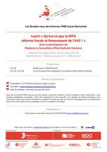 thumbnail of Invitation lunch avec la Mme la Conseillère d'Etat Nathalie Fontanet