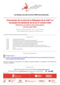 thumbnail of Présentation visite délégation suisse en Azerbaijan et Uzbekistan